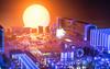 Silicon Sunset.  38/365. (FadeToBlackLP) Tags: lightpainting lightart creative sunset cityscape silicon 365 3652018 nikor 60mm macro sonya7ii