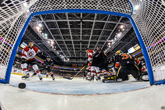 """Kansas City Mavericks vs. Cincinnati Cyclones, February 3, 2018, Silverstein Eye Centers Arena, Independence, Missouri.  Photo: © John Howe / Howe Creative Photography, all rights reserved 2018. • <a style=""""font-size:0.8em;"""" href=""""http://www.flickr.com/photos/134016632@N02/40119440481/"""" target=""""_blank"""">View on Flickr</a>"""