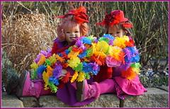 Sanrike und Milina ... (Kindergartenkinder) Tags: kindergartenkinder annette himstedt dolls sanrike tivi gruga grugapark essen karneval fasching annemoni milina