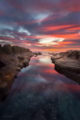Sea Rocks (buiTchuong) Tags: sunset lajolla water ocean clouds seascape californialandscape rocks
