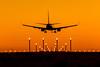 Landing at sunset... [Faro, Portugal - 2014] (Jose Constantino Gallery) Tags: portugal airplane landing faro lpfr sunset ryanair boeing 737 lights orange airport algarve jose constantino nikon d7100 2014