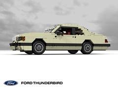 Ford Thunderbird 1983 V8 Coupe (lego911) Tags: ford motor company thunderbird 1983 aero aerodynamic v8 coupe 1980s usa america auto car moc model miniland lego lego911 ldd render cad povray