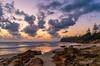 coolum sunrise (andrew.walker28) Tags: coolum beach sunshine coast queensland australia sunrise ocean sea sand waves morning clouds rocks water