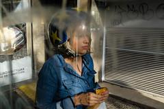 _DSF2090 (jose luis asensio) Tags: barcelona catalonia city eixample europe female headgear helmet people protection spain sports street urban woman women