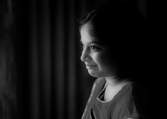 Happy Kid (mehtasunil) Tags: happy smile monochrome bw spotlight lowkey windowlight innocence leicasl 50mm summicron leicalens leicaimages leicacamera leicaforum leicaindia skancheli redmatrix