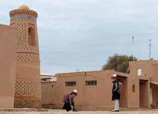 Promenade matinale dans Khiva