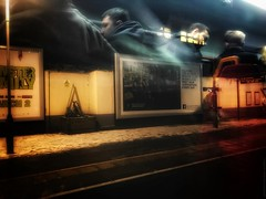 Putney station in snow (dksesh) Tags: seshadri dhanakoti harita hevilambisamvatsara apple iphone sesh seshfamily haritasya hevilambi appleiphone7 appleiphone iphone7