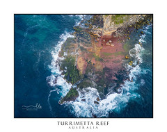 North Turimetta reef from above (sugarbellaleah) Tags: reef cliffs ocean rocks erosion weathered waves moss colours tide seascape aerial above perspective rockfall headland turimetta landscape boulders dangerous fisherman fragile water australia nature environment special texture northernbeaches beautiful scenery nsw drone