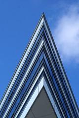 Modern pyramid (Jaedde & Sis) Tags: stripes århus blue white up challengefactorywinner thechallengefactory triangle