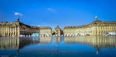Panorama Bordeaux - 4374 (YᗩSᗰIᘉᗴ HᗴᘉS +11 000 000 thx❀) Tags: panorama bordeaux france aquitaine gironde mirror mirroir placedelabourse europa architecture water reflexion reflets réflection reflection reflet hensyasmine yasminehens aaa fr sky blue