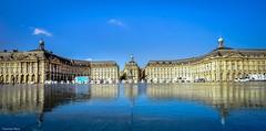 Panorama Bordeaux - 4374 (YᗩSᗰIᘉᗴ HᗴᘉS +13 000 000 thx) Tags: panorama bordeaux france aquitaine gironde mirror mirroir placedelabourse europa architecture water reflexion reflets réflection reflection reflet hensyasmine yasminehens aaa fr sky blue