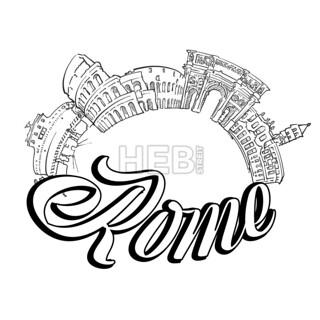 Rome landmarks cover design