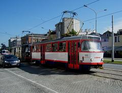 Olomouc trams Nos. 153 and 154 (johnzebedee) Tags: transport tram publictransport vehicle olomouc czechrepublic johnzebedee