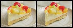 IMG_1710 フルーツタルト (crosseye 3D) (yoshing_BT) Tags: corsseye 3d crossview stereophotography stereograph stereoview crosseye crosseyed corsseye3d 交差法 寄り目立体 交差法立体視 cake ケーキ タルト スイーツ fruitcake