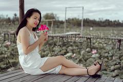 Anna (Hai PT) Tags: vietnam ninhthuan lotus village beautiful young girl pretty portrait sonyalpha a7m2 fe55