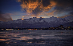 Downtown Anchorage (grbenson3) Tags: anchorage sunset clouds sky skyscape snow water alaska unitedstates us winterbeauty