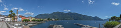 Ascona Panorama (helbldan) Tags: landscape lake ticino summer ascona switzerland panorama