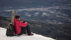 From above. (ChusPS) Tags: unesco barcelona montseny catalunya catalonia mountain winter snow nikon nikkor manfrotto selftimer selfie views morning