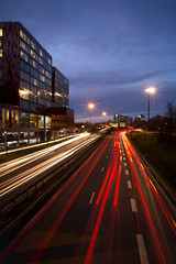 Rush hour (Geoffroy Hauwen) Tags: canon city cityscape 28mm france europe lille night sky blue
