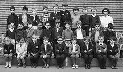 Class Photo (theirhistory) Tags: boy children kid class group school jumper girls wellies shoes teacher shirt boots form pupils students education