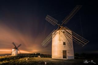 Windmills in Mota del Cuervo, Spain