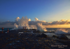 The Big Splash (R Dermo) Tags: water hawaii landscape nature sea shoreline seaside sunset outdoors kilauea nikon waves beach