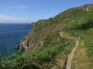 Coastline to Cape Cornwall, from coast path south-east of Cot Valley