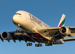A6-EOB Emirates Airbus A380-861 @ London Heathrow Airport, Hillingdon Borough. (Sw Aviation) Tags: a6eob a380 london heathrow airport emirates hillingdon borough airplane flying flight a380861 airbus