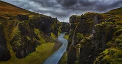 into darkness (Alexander Lauterbach Photography) Tags: fjaðrárgljúfur canyon iceland dark darkness dramatic nature landscape rocks travel adventure sony a7r a7rii