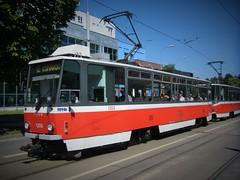 Brno tram No. 1203 & 1214 (johnzebedee) Tags: tram transport publictransport vehicle brno czechrepublic johnzebedee tatra
