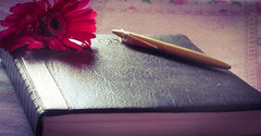 Every page is a new day. (Jashaswi Senapati) Tags: new day beginning start diary flower write canon powershot bokeh