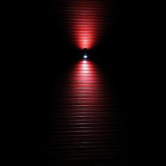 wasp waist (vertblu) Tags: light lightshadow lightopia smileonsaturday red nightscene night nighttime atnight bynight lamp lightrays beam waist waspwaist waisted woodplanks boards lightreflections lines linien bsquare kwadrat 500x500 vertblu abstract abstractfeel almostabstract lightbeam rot rotrossorougerood minimal minimalism minimalismus