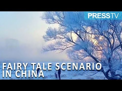 Press TV News : Low temperature turn section of river into a fairy tale scenario in China