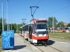 Brno tram No. 1661, with 1725 in the background. (johnzebedee) Tags: tram transport publictransport vehicle brno czechrepublic johnzebedee