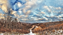 8R9A0857-62Ptzl1TBbLGER (ultravivid imaging) Tags: ultravividimaging ultra vivid imaging ultravivid colorful canon canon5dm3 clouds sunsetclouds sky scenic winter evening twilight trees path panoramic pennsylvania pa vista landscape lateafternoon snow
