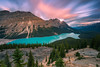 Peyto Lake at sunrise. Banff National Park, Alberta, Canada (tvrdypavel) Tags: alberta alpine attraction backpacking banff beautiful blue calm canada canadian colorful deep destination evergreen famous forest glacier hiking lake landscape mountains national nature outdoor panorama park peaceful peaks peyto reflection rock rocky scenery scenic serenity sky snow summer sunrise top tourism tourist tranquil travel trees valley