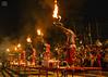 Ganga Arati (nirjan_munshi2015) Tags: varanasi religion rituals gangaarati performingarts flame people evening