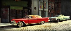 '59s on the Street (gpholtz) Tags: diorama miniatures 118 diecast 1959 oldsmobile 98 buick electra 225