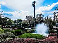 """You have succeeded in life when all you really WANT is only what you really NEED."" ―Vernon Howard 🇰🇷 🌴 ⛲️ (anokarina) Tags: adobephotoshopexpress colorsplash jejuisland fountain garden palmtrees blue clouds white red green southkorea sk canonpowershotelph350hs topiary 서울시 서울특별시 서울特別市 대한민국 大韓民國 classic historic public 여미지식물원 yeomijibotanicalgarden seogwipo jungmuntourismcomplex jejudo 예래동 jaejudo water spray"