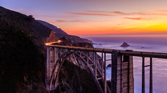 Bixby Bridge! (Hameed S) Tags: sunset bigsur longexposure drive hameeds monterey ocean tourism tourist travel seascape sea bridge pacificcoast waterfront