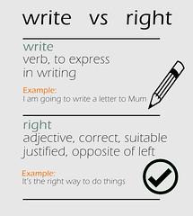 write vs right