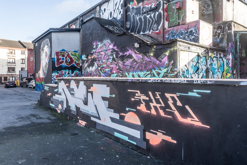 STREET ART AT THE TIVOLI CAR PARK IN DUBLIN [LAST CHANCE BEFORE THE SITE IS REDEVELOPED]-135658
