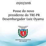 Posse do novo presidente do TRE-PR, Luiz Oyama. 01/02/2018