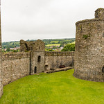 Kidwelly Castle outer ward and curtain wall thumbnail