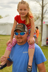 Two smiles and one missing tooth (radargeek) Tags: normanmedievalfaire2017 2017 norman medievalfair april shoulderride kid child dad sunglasses