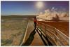Yellowstone! (ardeepdas@gmail.com) Tags: yellowstone national park sunset sun geyser sunshine