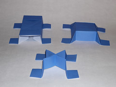Evolution of the SID unit family (ISO_rigami) Tags: modular origami 3d a4 module unit eckhardhennig sid rhombicuboctahedron sidrco sidx