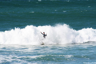 Surfing at Stark Bay, Rottnest Island