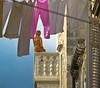 Julieta de arcilla (Bonsailara1) Tags: bonsailara1 dubrovnik croacia croatia statue clay arcilla estatua julieta juliet juliette balcón balcony street callejón ropa colgada hanging clothes