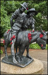 Simpson and his Donkey Memorial Canberra-1= (Sheba_Also 42,000 photos incl non public) Tags: simpson his donkey memorial canberra
